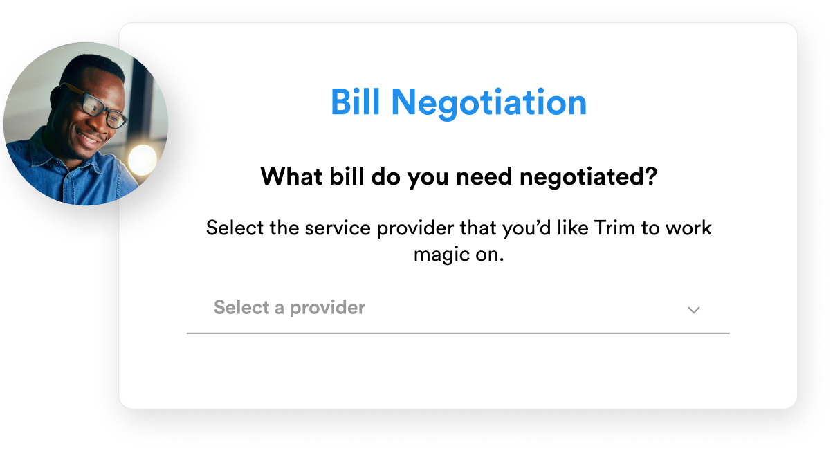 Bill Negotiation Savings Screen